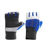 Перчатки бело-синие с фиксатором